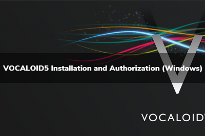 VOCALOID5 Installation and Authorization (Windows)