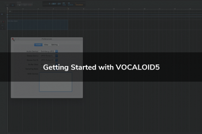 Getting Started with VOCALOID5