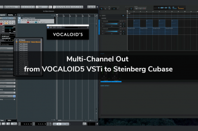 Multi-Channel Out from VOCALOID5 VSTi to Steinberg Cubase